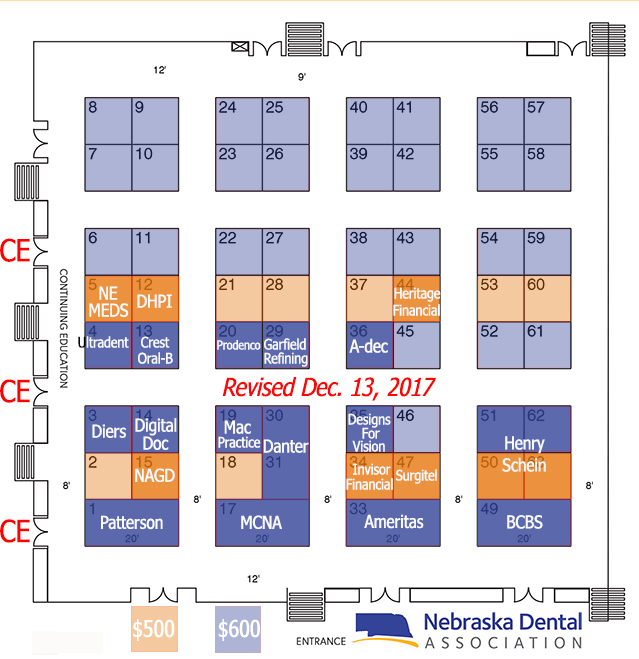 2018 Exhibitor Booth Layout