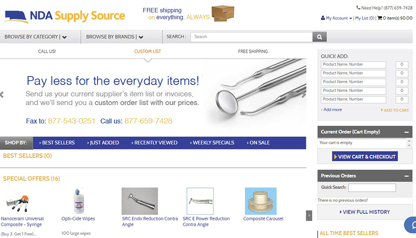 NDA Supply Source Website